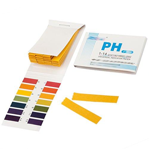 TRIXES Indicatore di PH Cartina Tornasole per la Misurazione del PH da 1 a 14, Blocchetto da 80 Strisce
