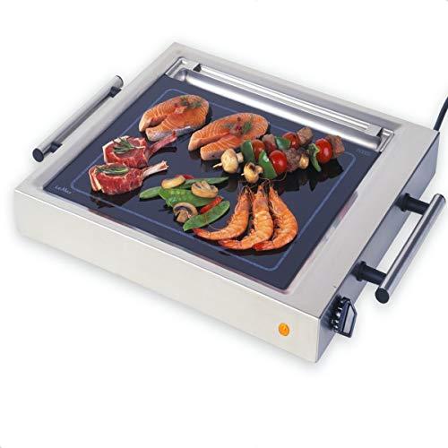 ELAG LeMax Grill II mit Fettwanne (Teppanyaki Grill & Profi- Elektrogrill - gleichmäßige Hitzeverteilung - max. 380°C Spitzentemperatur - stufenlose Temperaturregulierung - auch Griddleplatte)