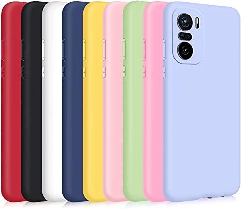 9X Cover per Xiaomi Poco F3  Mi 11i 5G, Custodia Morbido Silicone Ultra-Sottile TPU Tinta Unita Anti-Graffio Paraurti Protettiva Flessibile Gomma Case - 9 Colori