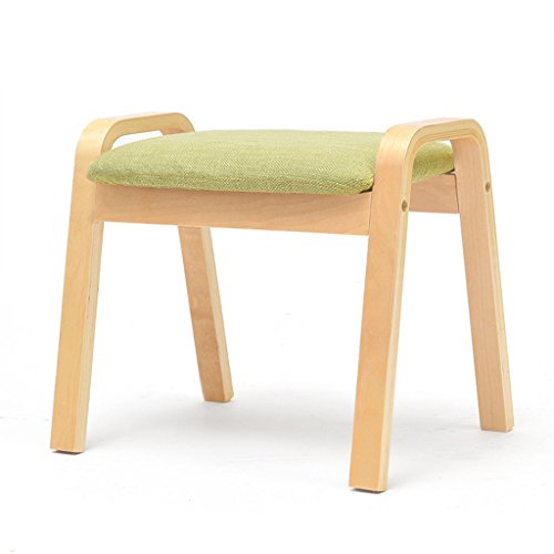 Yunteng-Fußhocker&Polsterhocker Fußbank für die Couch Wohnzimmer,Fußstütze Wood Legs Gepolsterter Bank Change Schuh Hocker mit 4 Beinen und abnehmbarem Leinenbezug (Farbe : A)