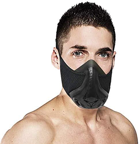Sulida Training Mask Sport Vital Capacity Running 48 Breathing Resistance Levels Training Mask Fitness Mask High Altitude Running Resistance Breathing Oxygen Adult Mask