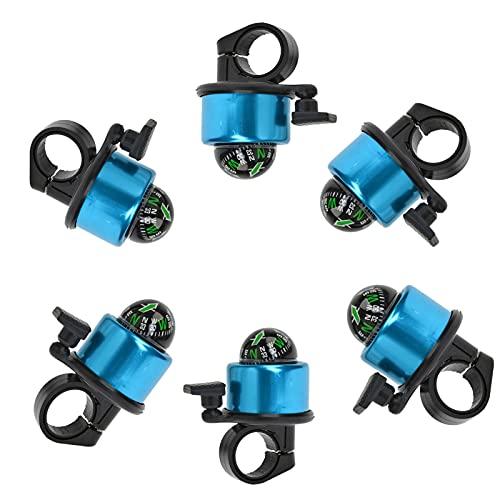 Queerelele Mountainbike Glocke Rennradhupe Rennradklingel Mountainbike Hupe Kompass Fahrradklingel Für Mountainbike E Bike Kinderfahrrad Roller Fahrradglocke Klingel Aluminiumlegierung(Blau)