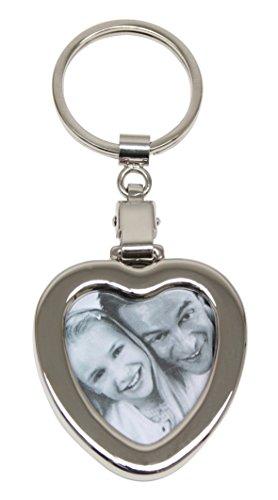 Deknudt Frames S59NB2 Schlüsselanhänger aus Metall, Herzform, 11,5 x 5 x 0,7 cm