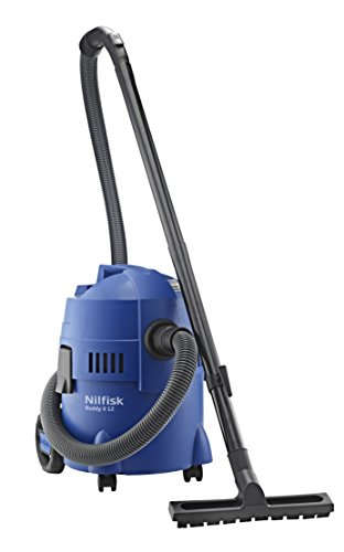 Nilfisk Buddy ll 12 UK Wet and Dry Vacuum Cleaner – Indoor & Outdoor Cleaning – 12 Litre Capacity with 1200 W Input Power (Blue)