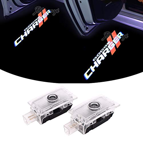 Dodge Door Light, 2PCS Welcome Lights LED Charger Logo Projector Car Ghost Shadow Light Lamp Wireless for Dodge Avenger Charger Magnum