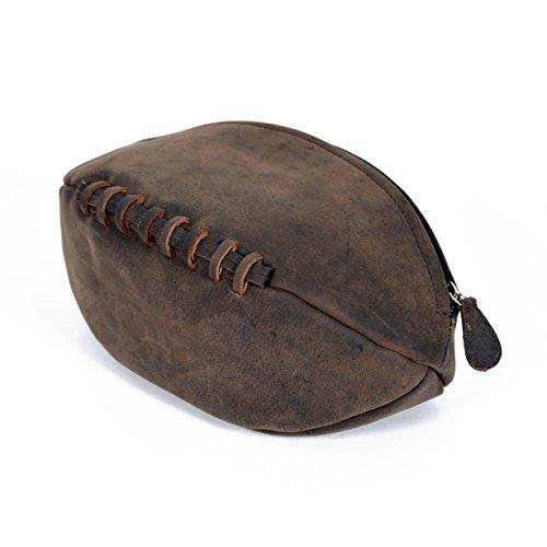 Kulturbeutel aus echtem Leder mit wasserabweisendem Futter im Vintage-Stil., schokoladenbraun (Braun) - 722.16.003.05
