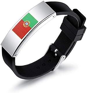 شخصية سيليكون الرجال أساور 2018 روسيا كأس العالم البرتغال العلم شعار عشاق اليدين عصابة