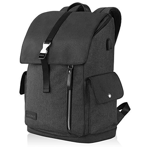 Laptop Rucksack 17,3 Zoll Sicherer Rucksack Schultasche Tagesrucksack Wasserabweisend Große Laptop Gepäck Tablet mit USB-Ladeanschluss für College/Reisen/Frauen/Männer-Schwarz MEHRWEG