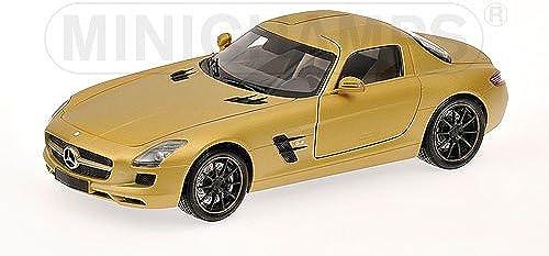 Mercedes SLS AMG, Gold, 2010, Modellauto, Fertigmodell, Minichamps 1 18