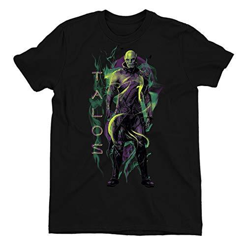 Captain Marvel Talos Children's Unisex Black T-Shirt 10-11 Years