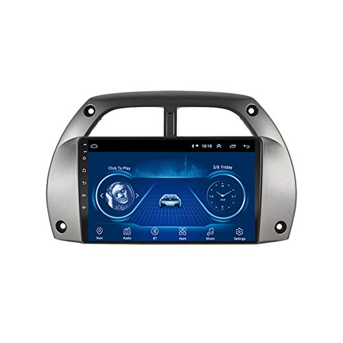 Foof Android Auto Audio Stereo Headunit Si Adatta per Toyota RAV4 2001-2006 Dvd Player Radio 9 Pollici HD Touch Screen GPS Navigazione GPS con Bluetooth WiFi Steering Wheel Control,WiFi 2g+32g