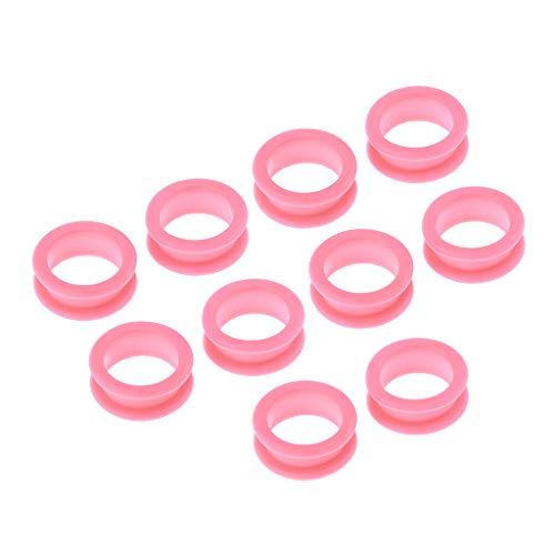 10-teilige Silikon Finger Ring Einsätze Fingerring für Friseur Schere - Farben auswählbar - Rosa