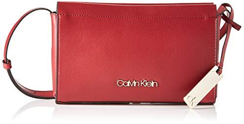 Calvin Klein Enfold Ew Crossbody - Borse a tracolla Donna, Rosso (Barn Red), 1x1x1 cm (W x H L)