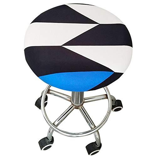 Luerme Eleganter runder Hockerbezug aus elastischem Spandex-Stretchstoff Stuhlsitzbezug Polsterhülse