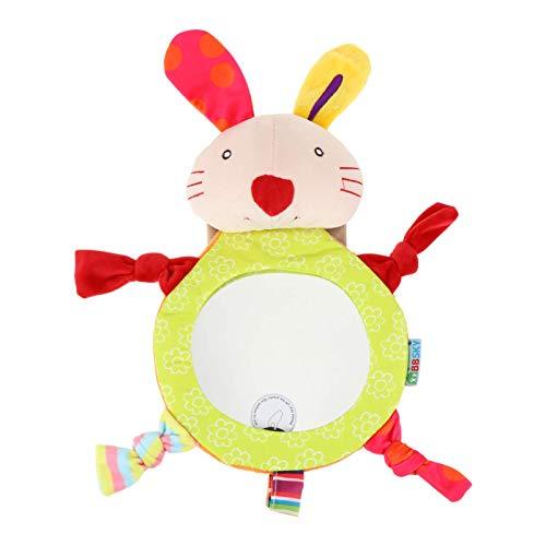 TOYANDONA Espejo de Bebé para El Coche Conejo Diseño Más Grande Y Estable Espejo de Asiento Trasero Cristal Claro Vista del Bebé en La Parte Trasera Asiento de Coche Seguro Y a Prueba de