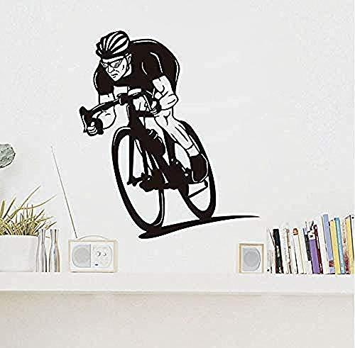 Zykang Wall Sticker Cyclists Ride Your Bicycle Vinyl Wall Sticker Cycle Interesante competencia Calcomanías de arte Decoración del hogar Sala de estar