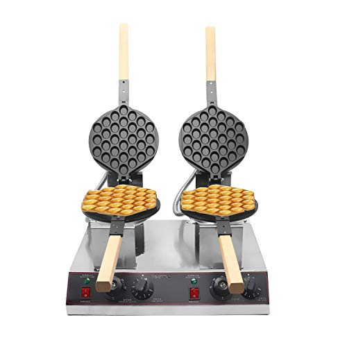 Buy BAOSHISHAN Egg Waffle Maker Double Tray Hong Kong Bubble Belgian Waffle Iron Maker Baker 360° R...