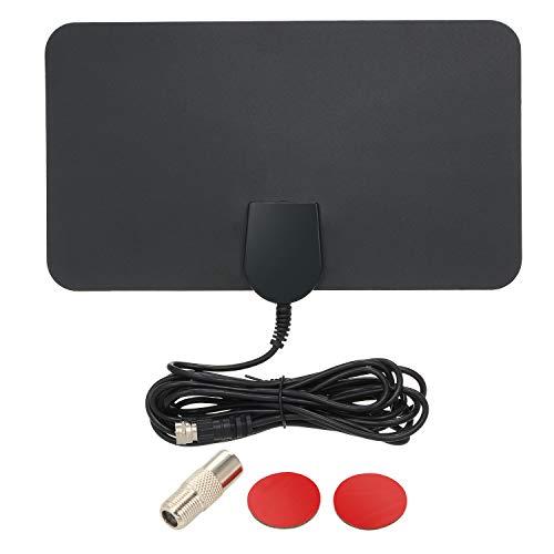 Antena de TV digital interna Docooler, painel plano, UHF, FM HDTV, antena de sinal HD/UHF/FM, antena interna plana com cabo coaxial de 3 m