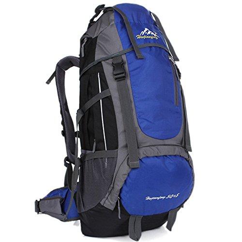 Hwjianfeng großes Fassungsvermögen Bergsteigen backpack-55l, Unisex, Blau