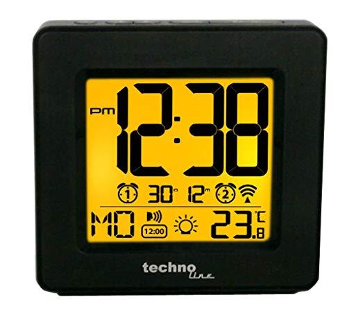 Technoline Sprechender Funkwecker WT 330 mit Ansage von Uhrzeit und Temperatur sowie Innentemperaturanzeige