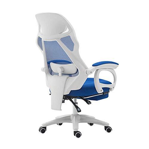 N/Z Tägliche Ausrüstung Stuhl Drehstuhl Computerstuhl Heben Rotation Liegender Bürostuhl mit Fußstütze Personal Lernstuhl mit Massage Lordosenstütze Nennlastkapazität: 550 lbs Grün