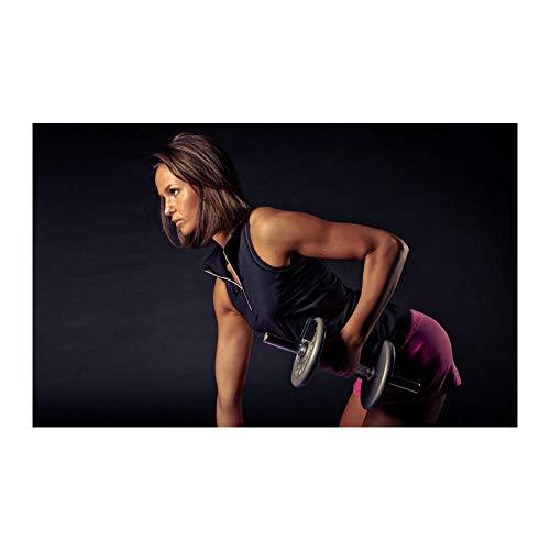 WKAQM Palestra Parete Arte Bodybuilding Fitness Poster Sexy Ragazza manubri Allenamento Tela Poster Stampe Palestra Motivazione Immagini casa Palestra Muro Arredamento Pittura Senza Cornice TL-917