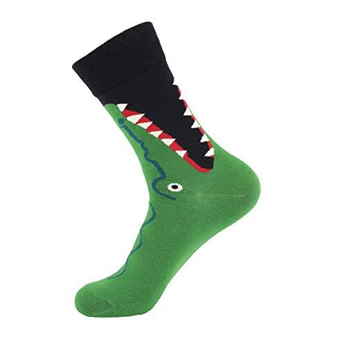 Preisvergleich Produktbild LILONGXI Lustige Socken, Herbst Winter Krokodil Muster Gedruckt Fashion Crew Socken,  Atmungsaktiv,  Antibakteriell Athletische Rohner Socken Outdoor Warmen Stricken Socken Aus Baumwolle(3pcs)
