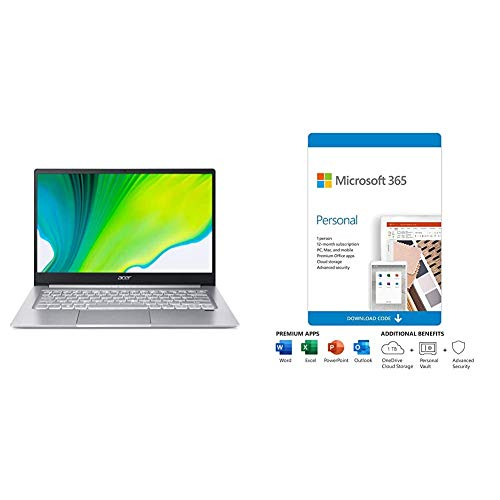 Acer Swift 3 Thin & Light Laptop, 14' Plus Microsoft 365 Personal 12 Month, Auto-Renewing Subscription