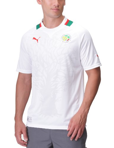 PUMA Herren Fußballtrikot Africa Home Replica, White-Power Green-Senegal, XXL, 740193 16