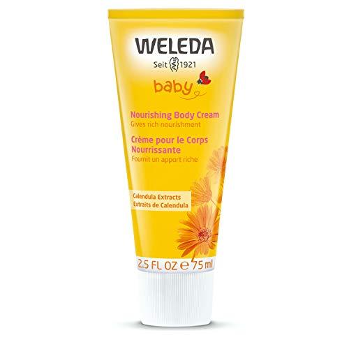 Weleda Baby Calendula Verzorgingscrème, natuurlijke cosmetica, lichaamsverzorging voor de verzorging en kalmering van de droge huid, rijke hydraterende crème voor baby's en kinderen (1 x 75 ml)