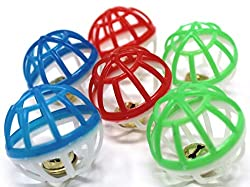 cat bell cage balls toy