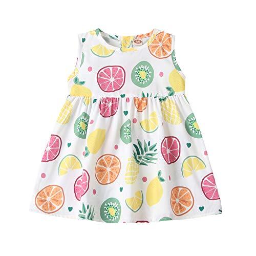 YWLINK Vestido De Una Pieza Sin Mangas Casual para NiOs Vestido De Princesa Falda Estampadapara NiOs Vestidos NiA con Estampados De Ropa NiA Vestidos
