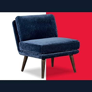 Tommy Hilfiger UPH10027G Pelham Armless Chair, Blue
