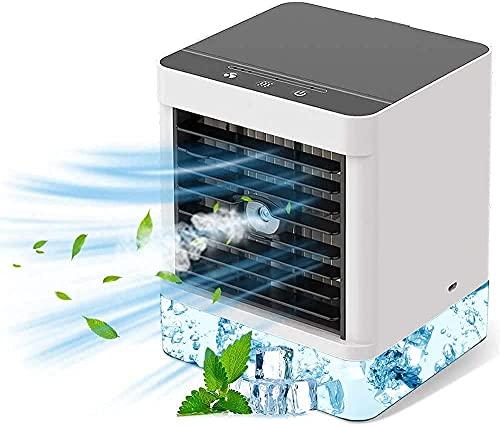 Personal Air Cooler, Mini Mobile Air Conditioner 3 in 1 Evaporative...