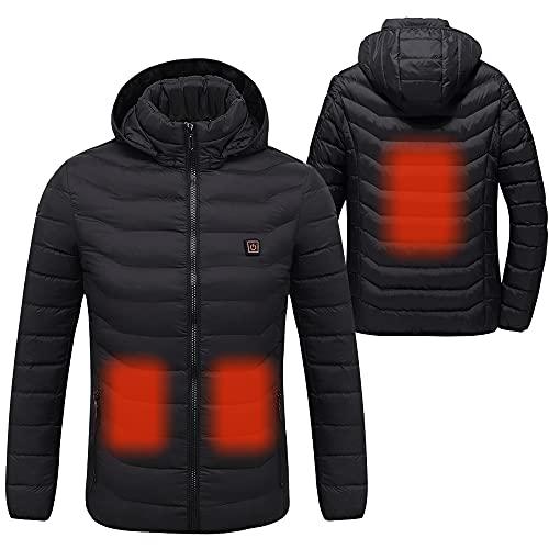 Sidiou Group - Chaqueta con calefacción eléctrica con ropa de abrigo de invierno de temperatura ajustable (energía no incluida)