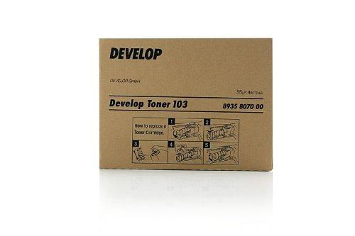Original Develop 8935-8070-00 / TYPE103 Toner (black, Inhalt 55 Gramm) für D 1300, 1320