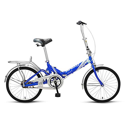 AZYQ Bicicleta plegable para mujer, mini bicicleta plegable ligera para adultos, cuadro de acero con alto contenido de carbono, guardabarros delantero y trasero, bicicleta urbana urbana para niños, n