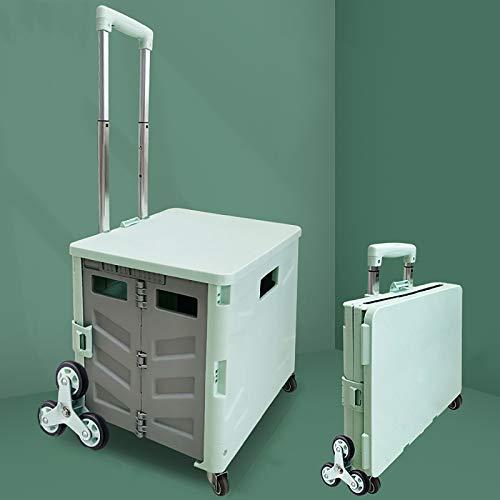 XIAOPENG Folding Shopping Cart Oart Tair Climbing Cart Grocery Cart with Wheels 4 Wheeled Rolling Crate Portable Grocery Cart,Shopping Cart with Telescoping Handle