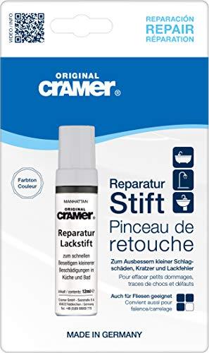 Cramer 15850DE Reparatur-Lackstift Email, Acryl, Keramik, manhattan - Sanitärlack zum Ausbessern kleinerer Schäden an Badewannen, Duschwannen, Waschbecken und Fliesen