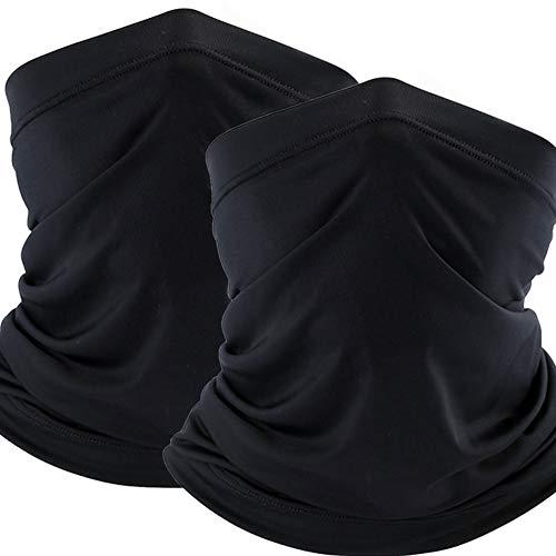 Yimorex Schlauchschal Multifunktionstuch Herren Schnelltrocknend Atmungsaktiv Weich Gesichtsmaske Damen Super Elastisch Sonnenschutz Verschleißfest Halstuch Maske für Motorrad Laufen Wandern Schwarz