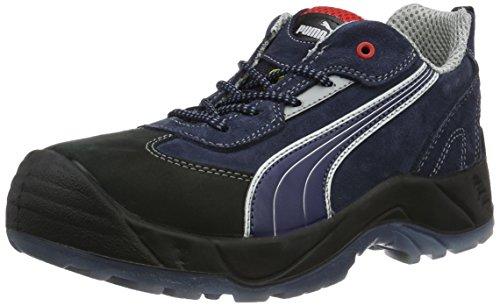 Puma Safety Shoes Skylon Low S1P ESD SRC, Puma 640680-310 Unisex-Erwachsene  Halbschuhe, Blau (blau/weiß/schwarz 310), EU 39