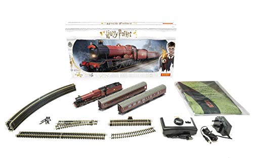 Hornby Hobbies Warner Brother's Harry Potter Hogwarts Express Electric Model Train Set HO Track with US Power Supply R1234M, Red & Black