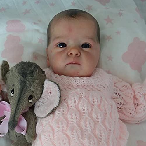 CCHM 18 '' Realistas De Las Muñecas Renacidas, Soft Silicone Realista Recién Nacido Bebé Muñecas, Muñeca De Crianza De Bebé Hecho A Mano Buen