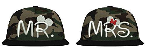 TRVPPY Snapback Camouflage Cap/Modell Mr. & Mrs. Mickey Mini/Weiß-Jungle Camouflage / B691