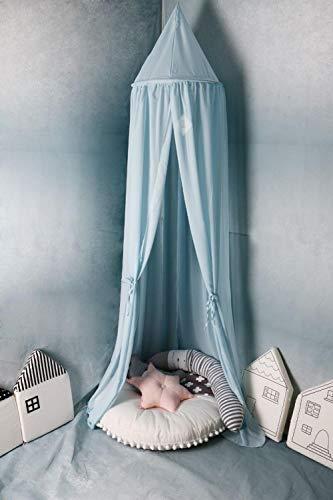 Mosquitera para niños, dosel de cama, tienda de campaña para jugar, juegos de niños, lectura, tienda de bebé, mosquitera de gasa europea y americana, habitación de los niños azul azul Talla:50cm*240cm