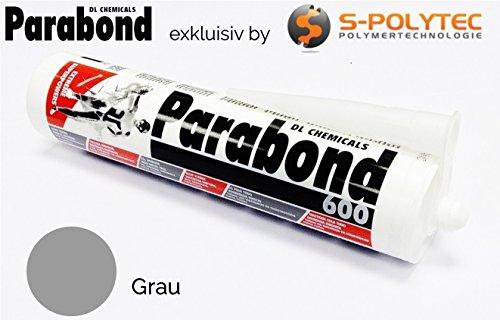 PARABOND 600 MS Polymer Kleber, Dichtstoff, Alleskleber, Montagekleber, 290ml Bootsbau, Karosseriekleber TOP QUALITÄT (grau RAL 7004)