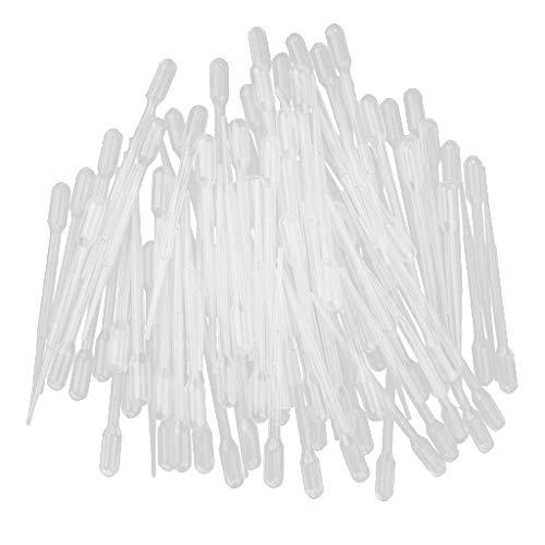 D DOLITY 100x Pipetas de Transferencia Plástico Gotero Frasco de Laboratorio 1/2/3/5/10ml - 2mL