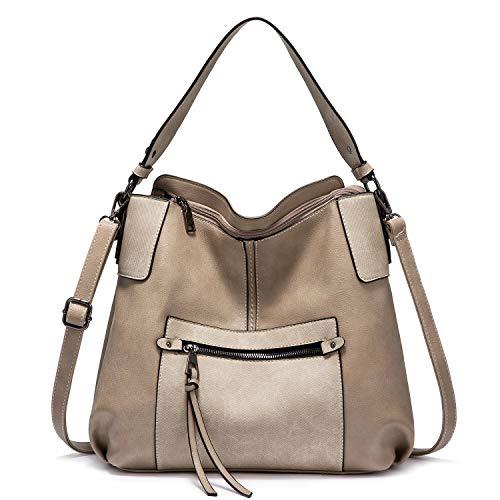 Realer Hobo Geldbörsen und Handtaschen für Damen, Schultertasche Große Crossbody Taschen