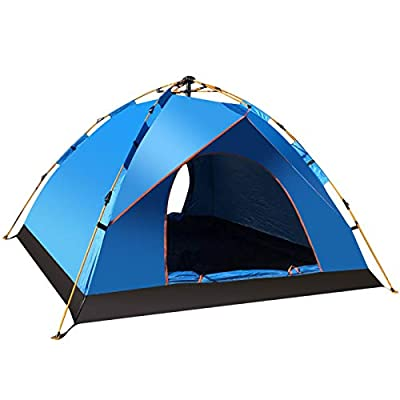 Outraveler Camping Tent with Carry Bag Automatic and Quick Setup, Waterproof Double, Layer mesh Window (Sky Blue, 2 Person)
