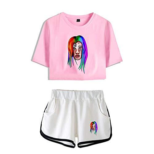 6ix9ine T-Shirts und Hosen Set Sportswear-Sets Top & Kurze Höschen Bekleidungssets Sportbekleidung